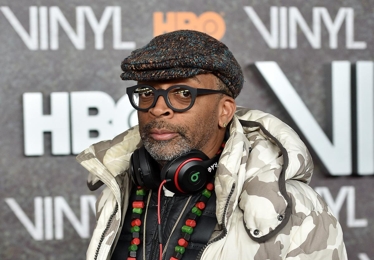 """Spike Lee at the premiere for """"Vinyl."""""""