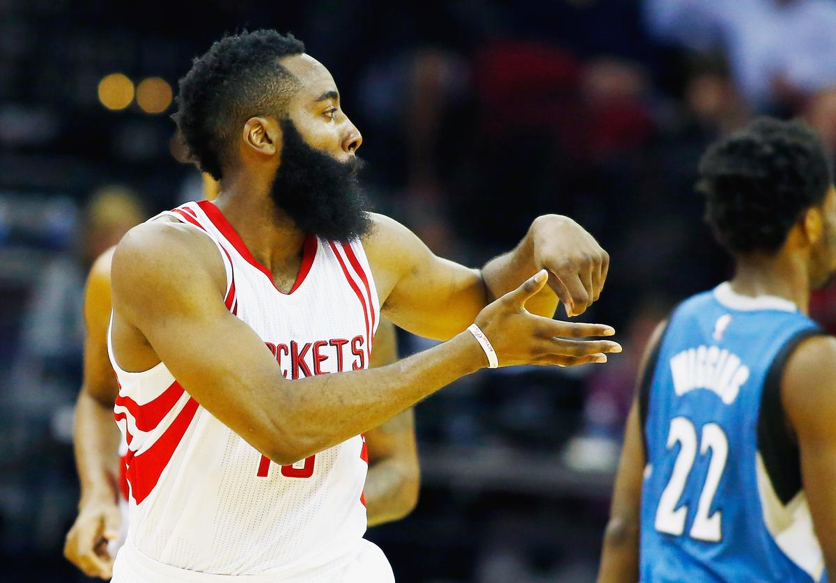 James Harden cooks it up.