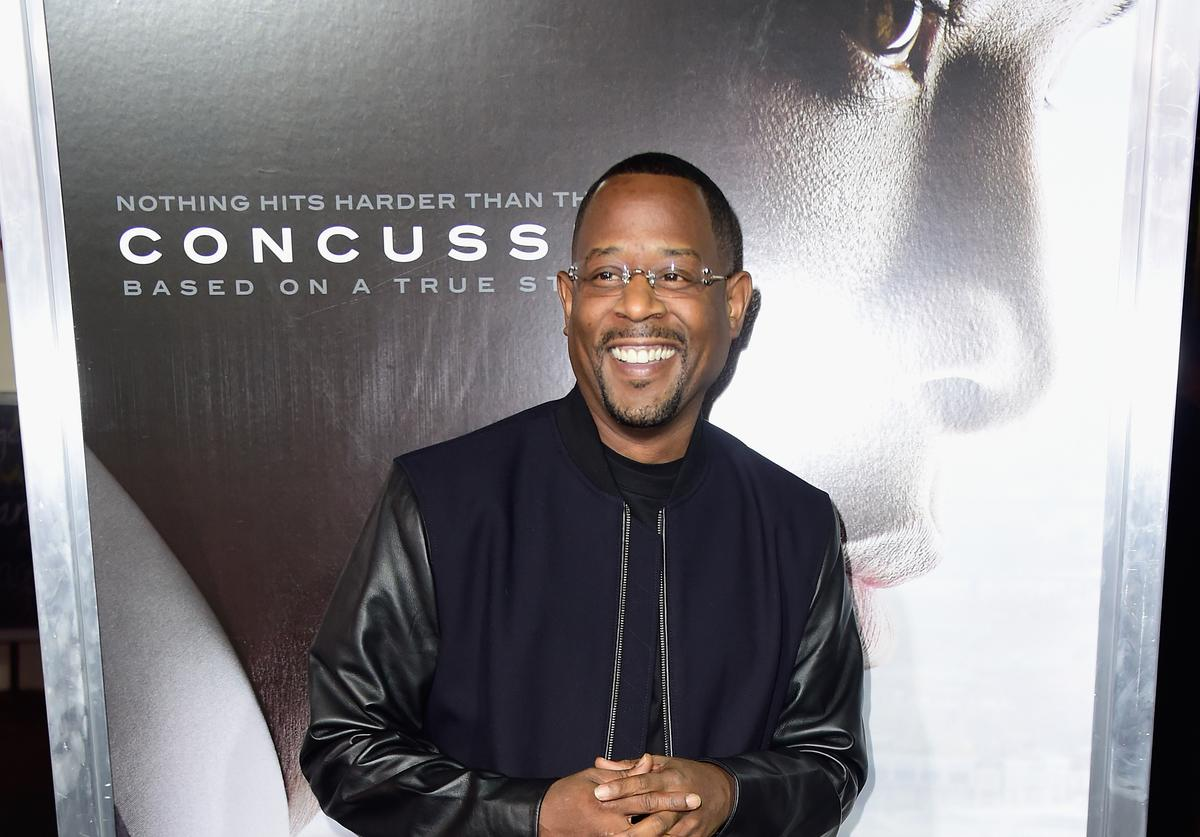 Martin Lawrence at the premiere of Concussion.