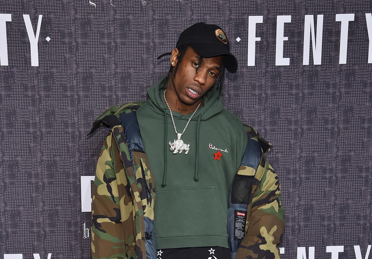 travis scott at rihanna's fenty puma show