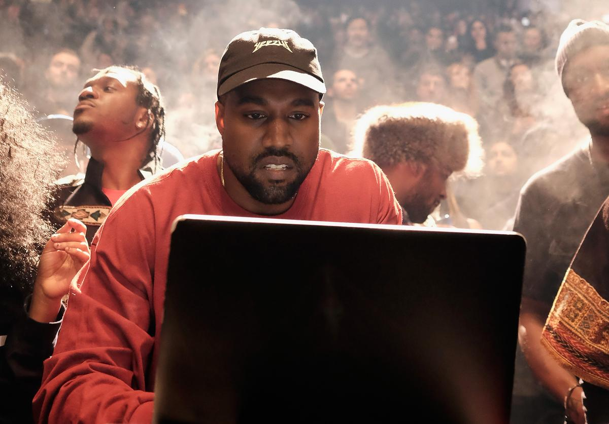 Kanye West performs during Kanye West Yeezy Season 3 on February 11, 2016 in New York City