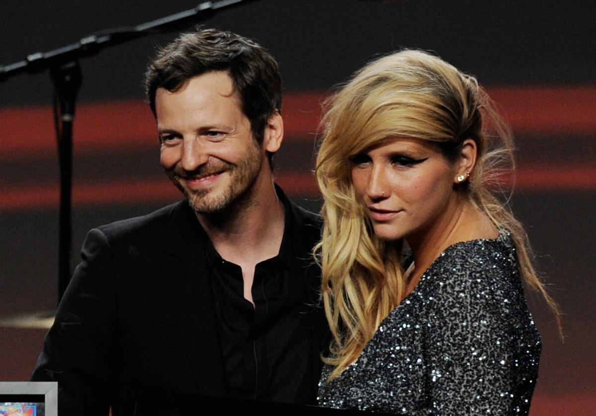 Lukasz 'Dr. Luke Gottwald and singer Ke$ha pose onstage at the 28th Annual ASCAP Pop Music Awards at the Kodak Ballroom on April 27, 2011 in Los Angeles, California