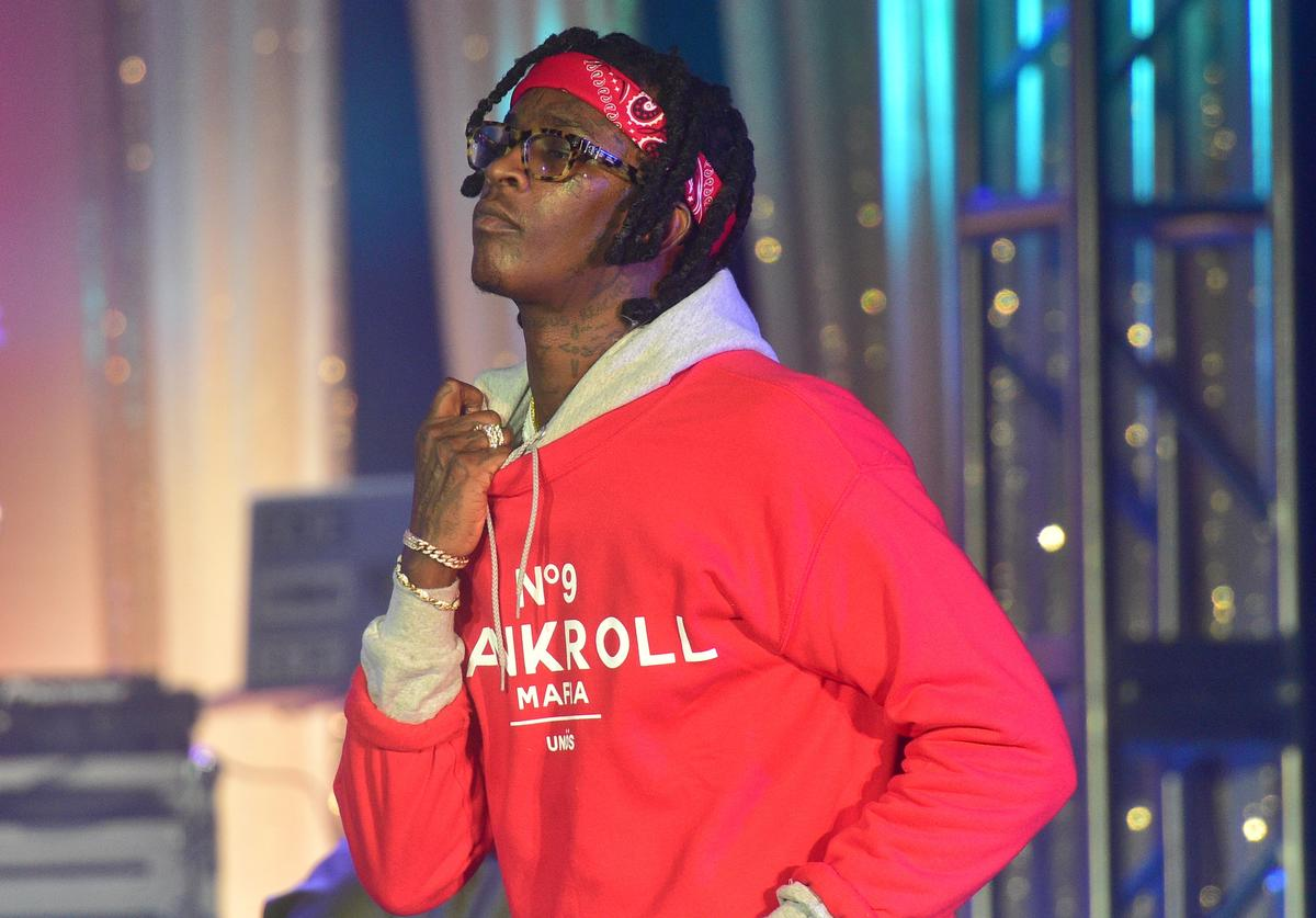 Young Thug performing at TIDAL event