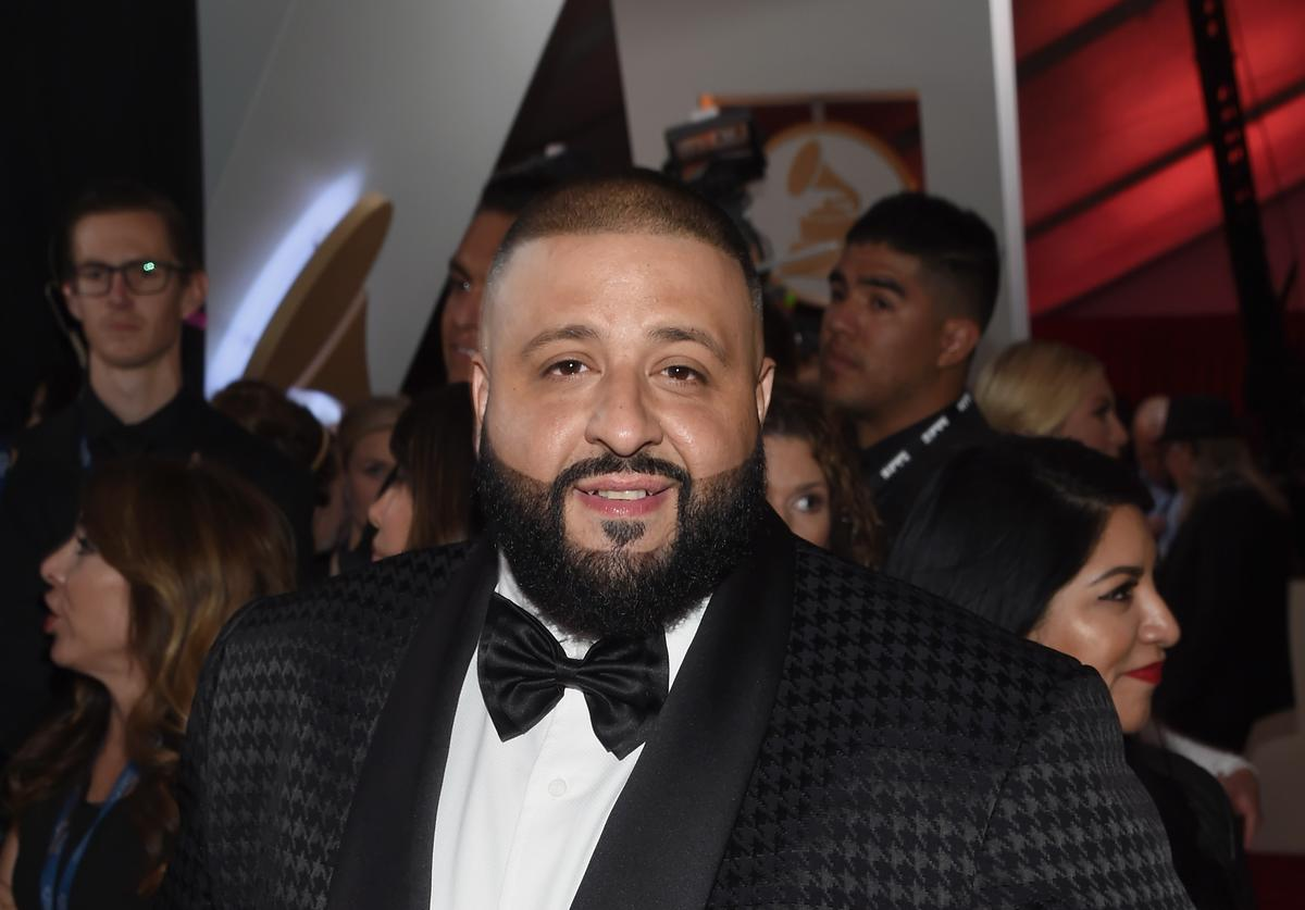 DJ Khaled on the Grammys red carpet