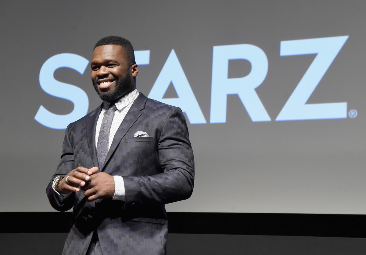 50 Cent at Season 3 premiere of Power