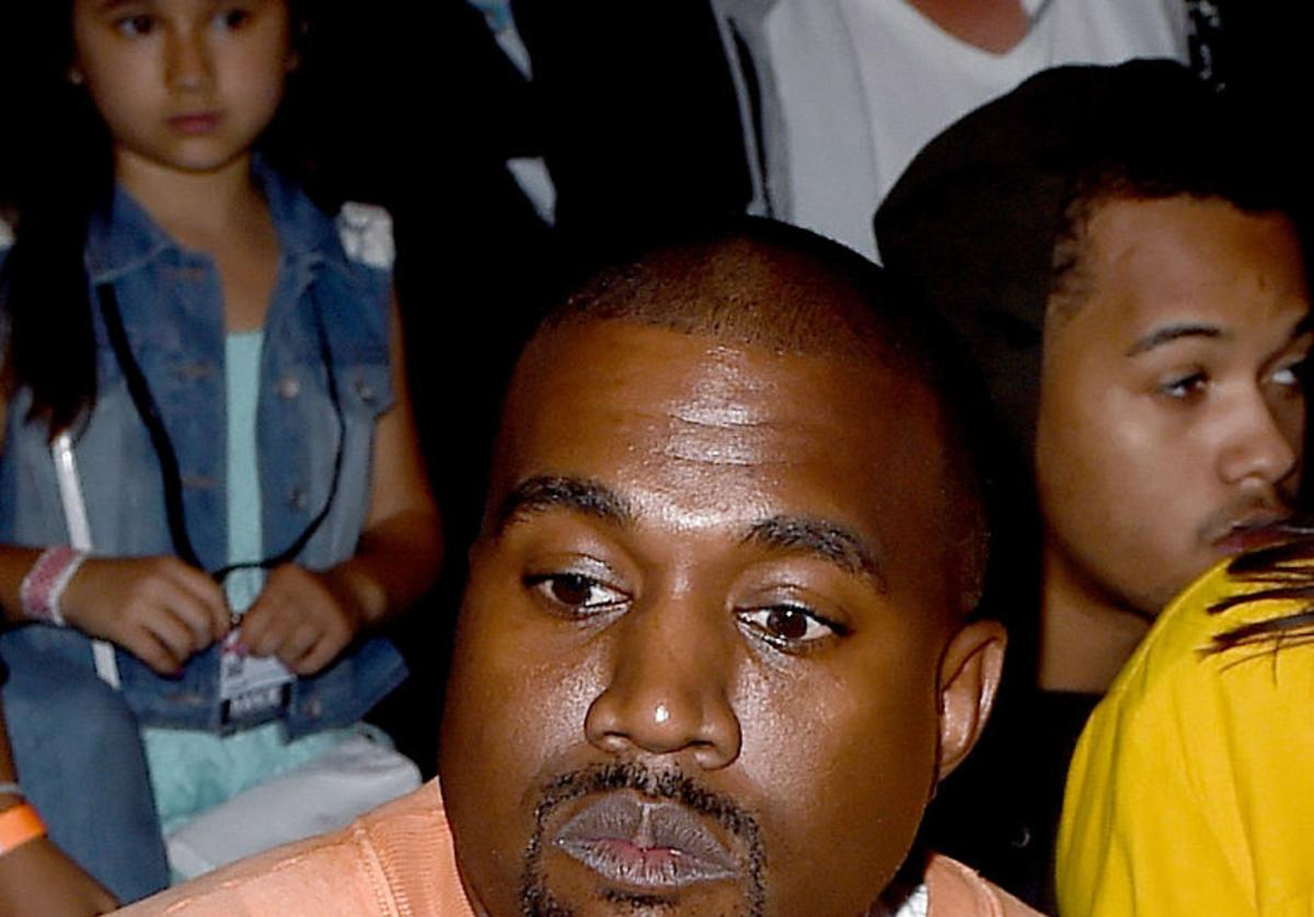 Hip Hop artist, producer, designer Kanye West attends Tyler, the Creator's fashion show for Made LA at L.A. Live on June 11, 2016 in Los Angeles, California.