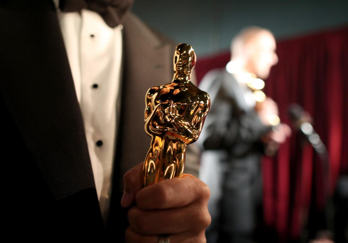 An Oscar statue backstage at the 88th Annual Academy Awards at Dolby Theatre on February 28, 2016 in Hollywood, California.