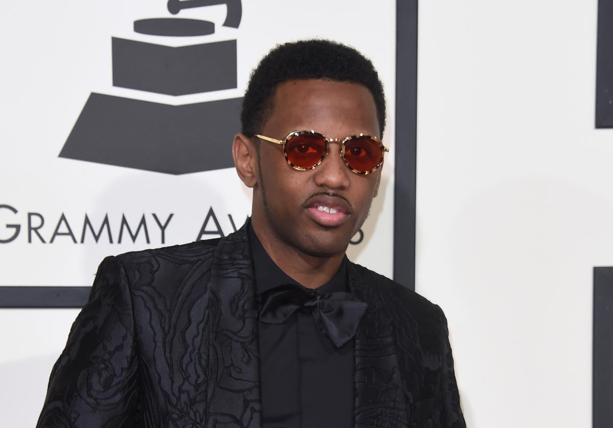 Rapper Fabolous and guest attend The 58th GRAMMY Awards at Staples Center on February 15, 2016 in Los Angeles, California.