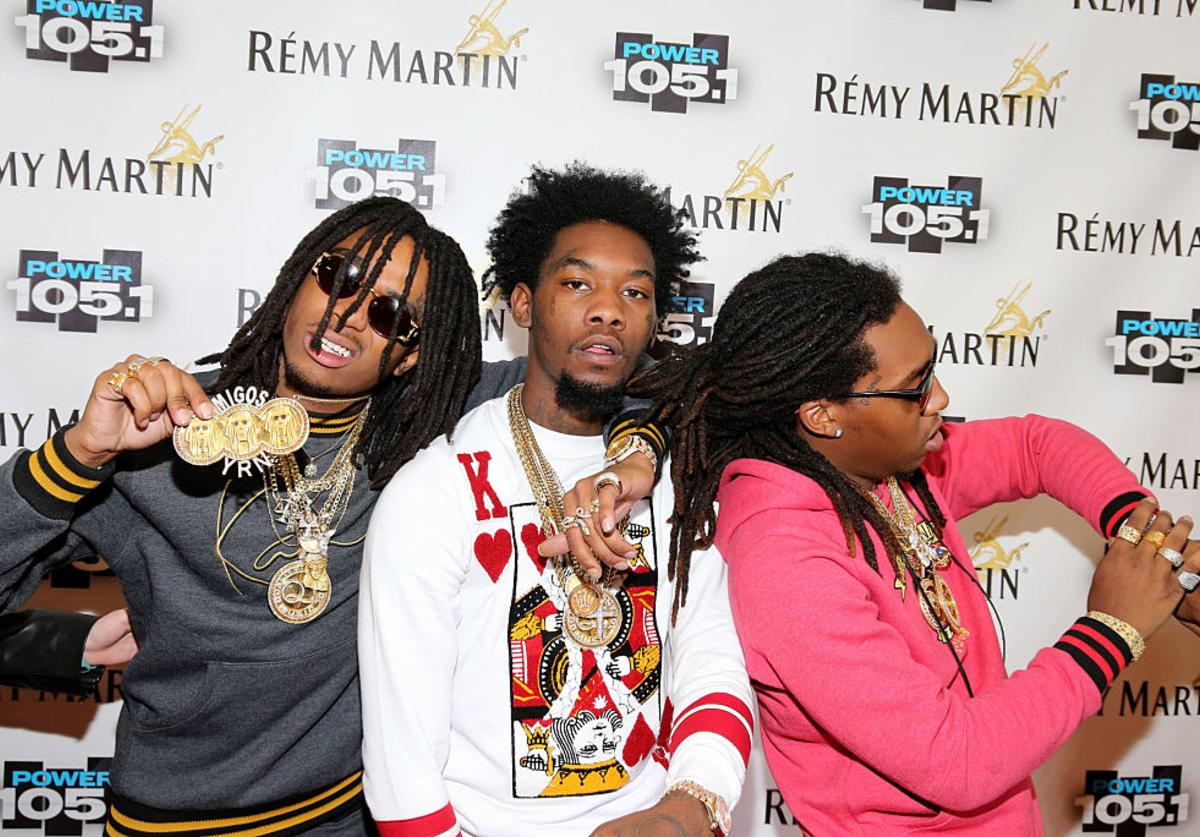 Kirshnik 'Takeoff' Ball, Kiari 'Offset'? Cephus and Quavious 'Quavo'? Marshall of Migos attend Power 105.1's Powerhouse 2014 at Barclays Center of Brooklyn on October 30, 2014 in New York City.