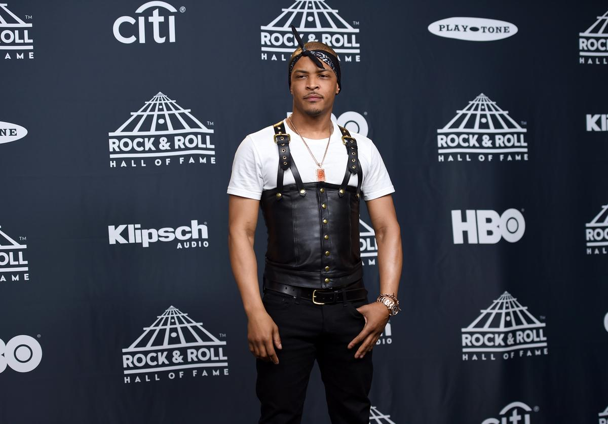 T.I. 32nd Annual Rock & Roll Hall Of Fame Induction Ceremony - Press Room