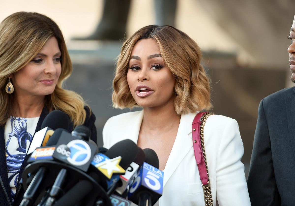 Blac Chyna at pre-court hearing & trial