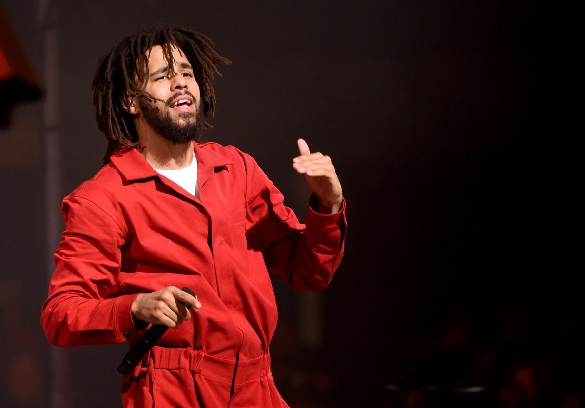 J. Cole Performs At The Forum