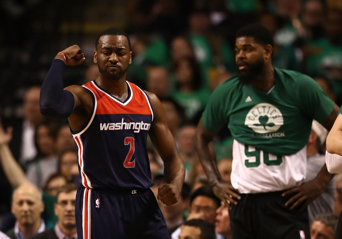 John Wall Washinton Wizards vs. Boston Celtics