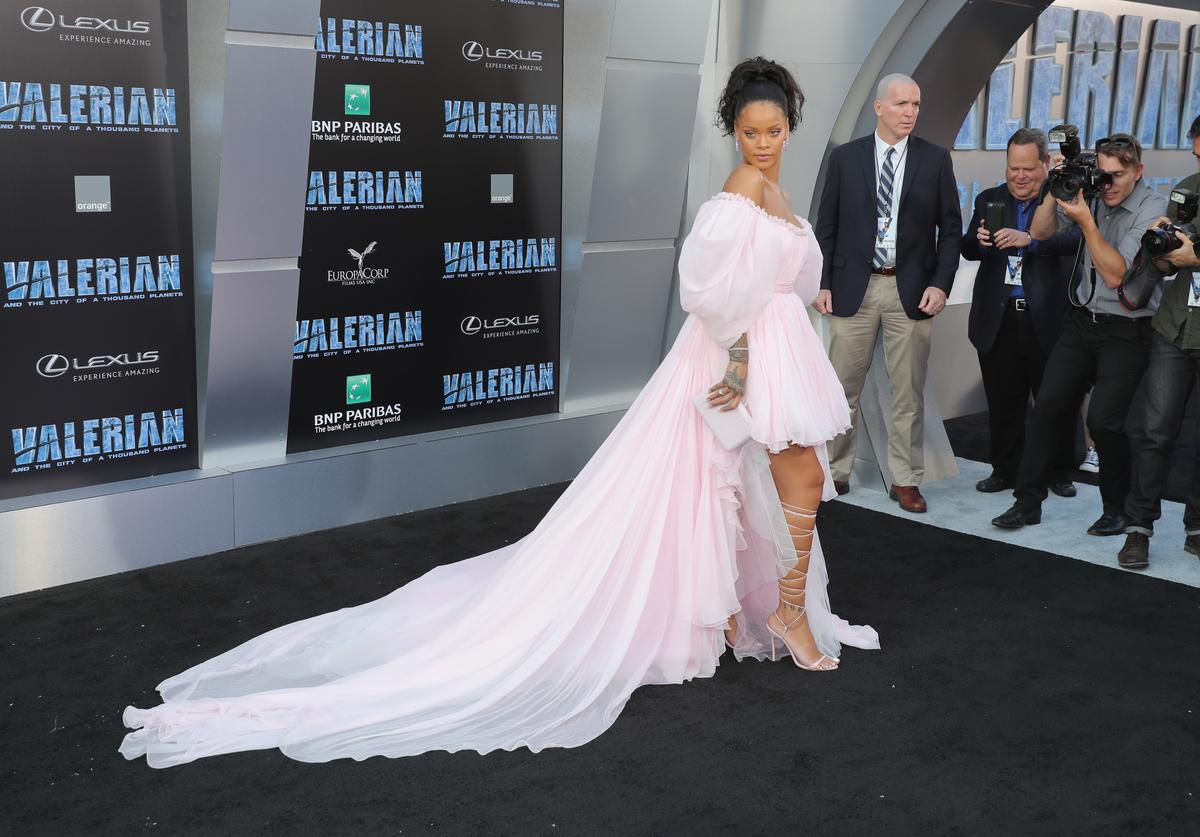Rihanna Premiere Of EuropaCorp And STX Entertainment's 'Valerian And The City Of A Thousand Planets' - Arrivals