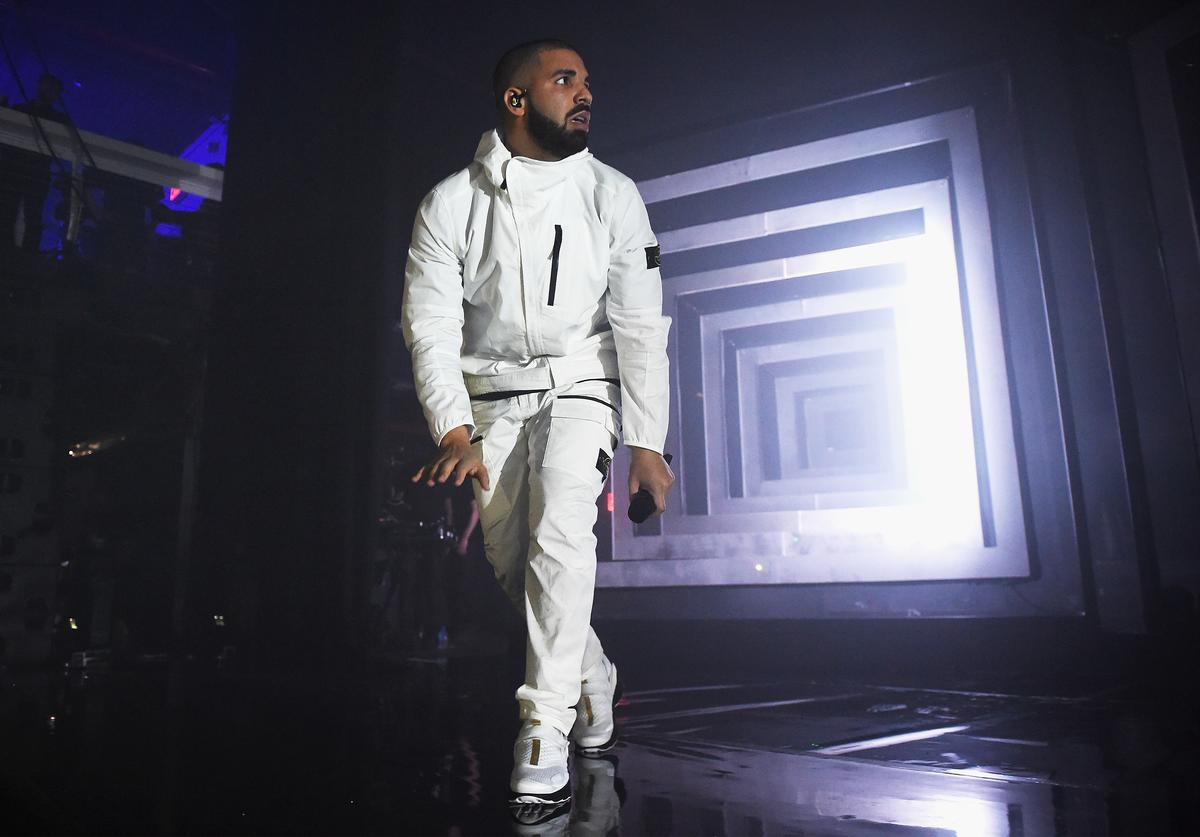 Drake at 2017 Adult Swim Upfront Party