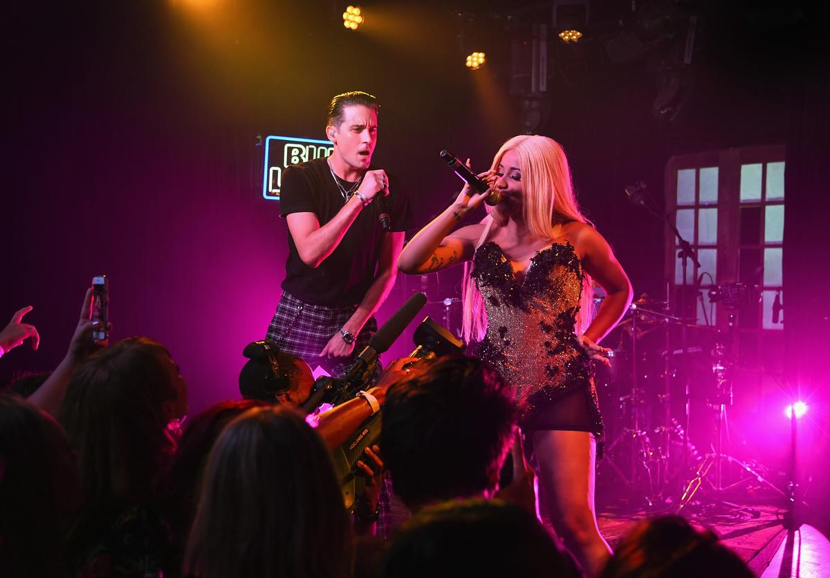 """G-Eazy and Cardi B performing """"No Limit"""" together"""