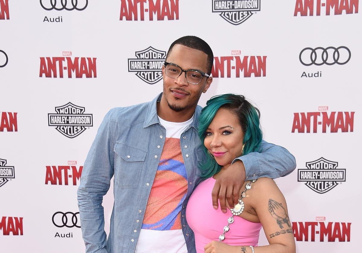 T.I. and Tiny at movie premiere 2015