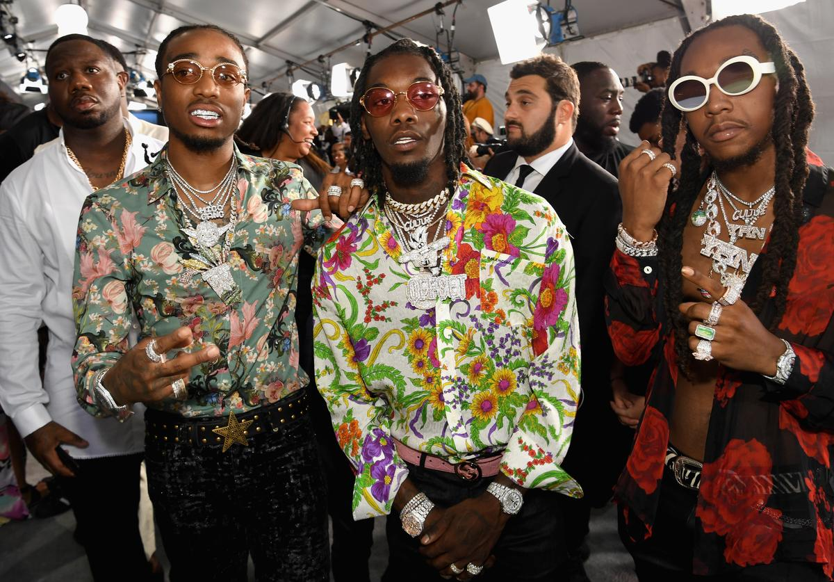 Quavo, Offset, and Takeoff of Migos at the 2017 BET Awards at Staples Center on June 25, 2017 in Los Angeles, California.