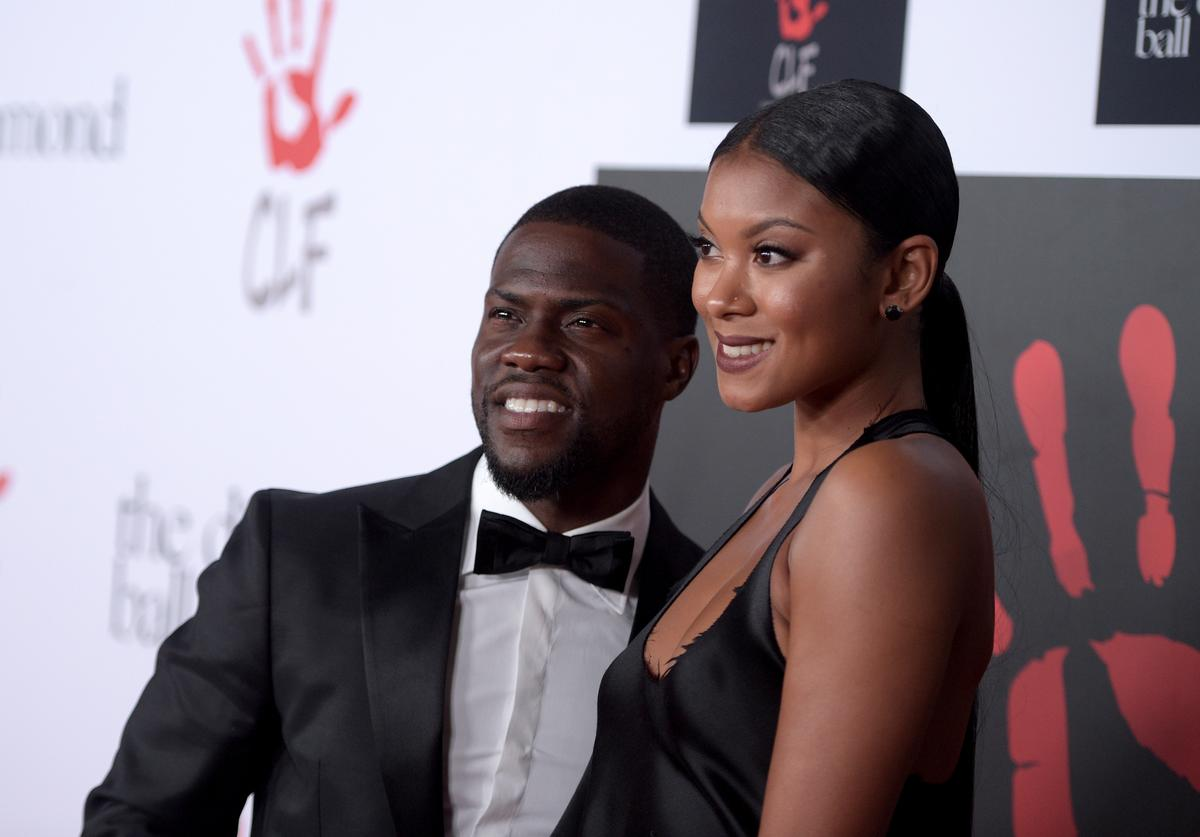 Kevin Hart & wife Eniko Parrish at Academy Awards