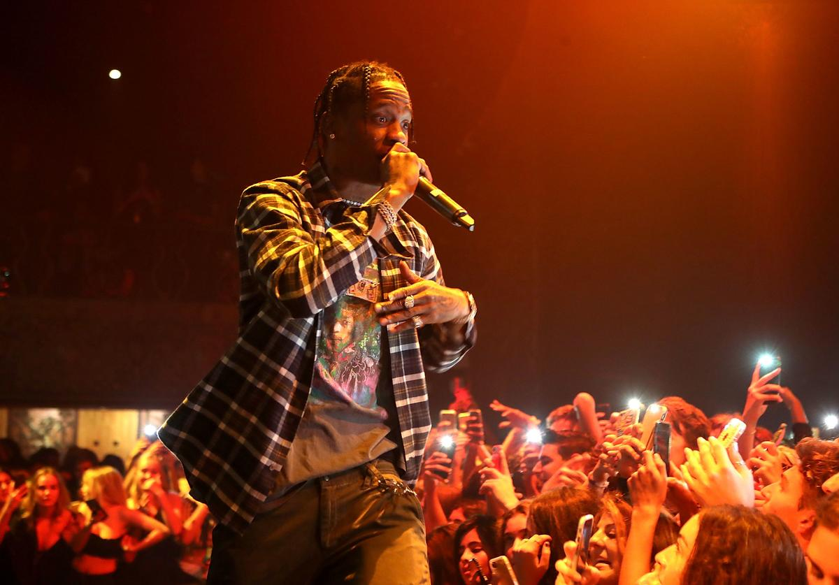 Travis Scott at Kailand's Sweet 16 Bday party