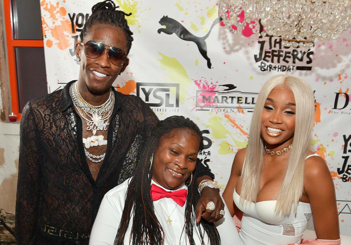 Young Thug & Jerrika Karlae at Thug's 25th birthday party in ATL