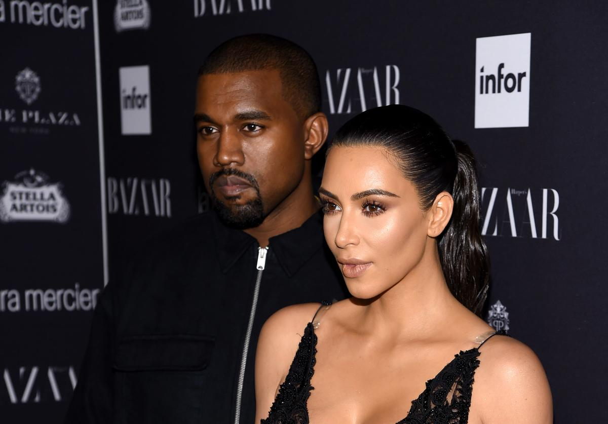 Kim and Kanye on red carpet