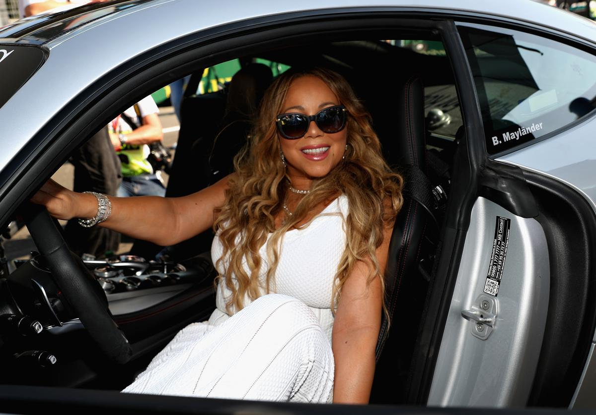 Mariah Carey at F1 grand prix