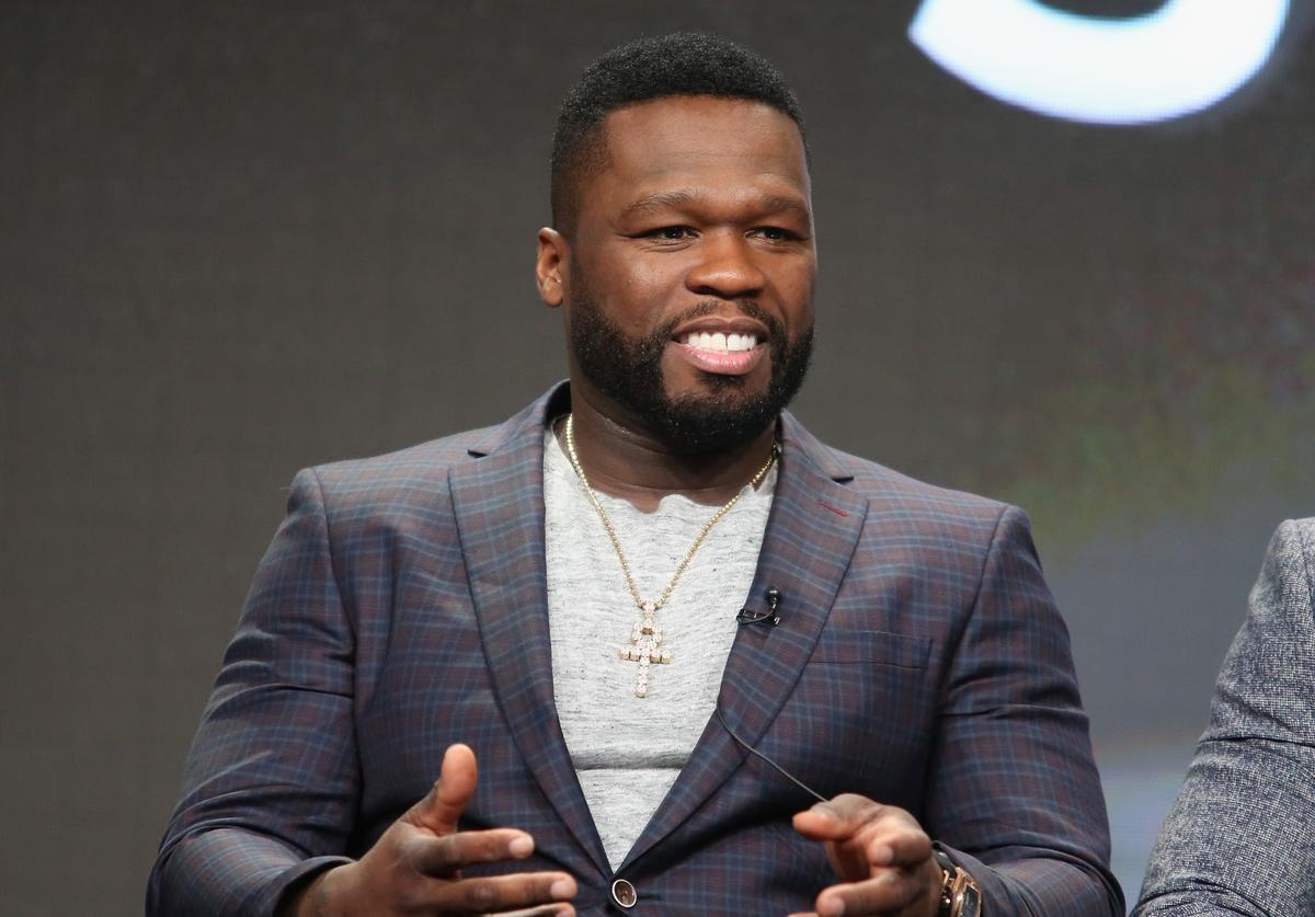 Executive producer/actor Kurtis '50 Cent' Jackson speaks onstage during the 'Power' panel discussion at the Starz portion of the 2016 Television Critics Association Summer Tour at The Beverly Hilton Hotel on August 1, 2016 in Beverly Hills, California