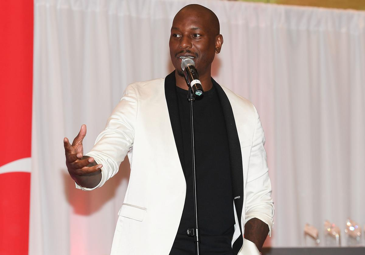 Tyrese at Pay it forward event