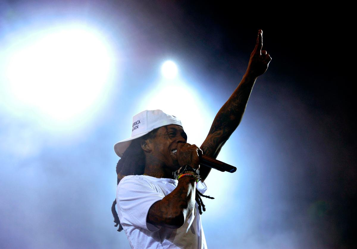 Recording artist Lil Wayne performs onstage during day 1 of the 2016 Coachella Valley Music & Arts Festival Weekend 2 at the Empire Polo Club on April 22, 2016 in Indio, California