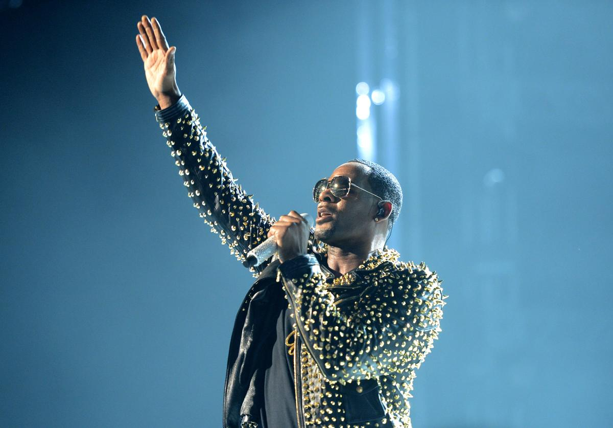 Singer R. Kelly performs onstage during the 2013 BET Awards at Nokia Theatre L.A. Live on June 30, 2013 in Los Angeles, California