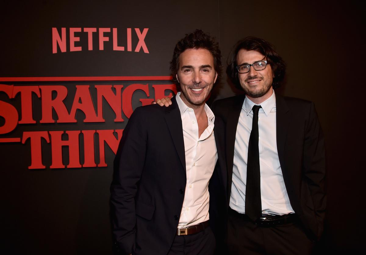 Executive producers Shawn Levy and Dan Cohen attend the Premiere of Netflix's 'Stranger Things' at Mack Sennett Studios on July 11, 2016 in Los Angeles, California