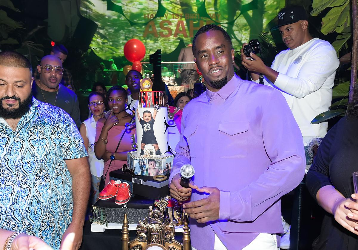 Diddy & DJ Khaled at son's bday party