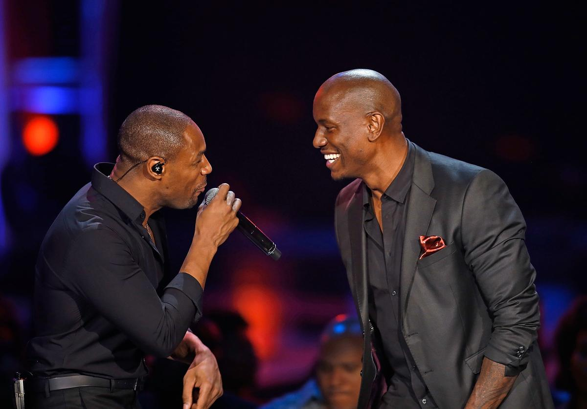 Recording artist Tank (L) and Tyrese of TGT perform during the Soul Train Awards 2012 at PH Live at Planet Hollywood Resort & Casino on November 8, 2012 in Las Vegas, Nevada