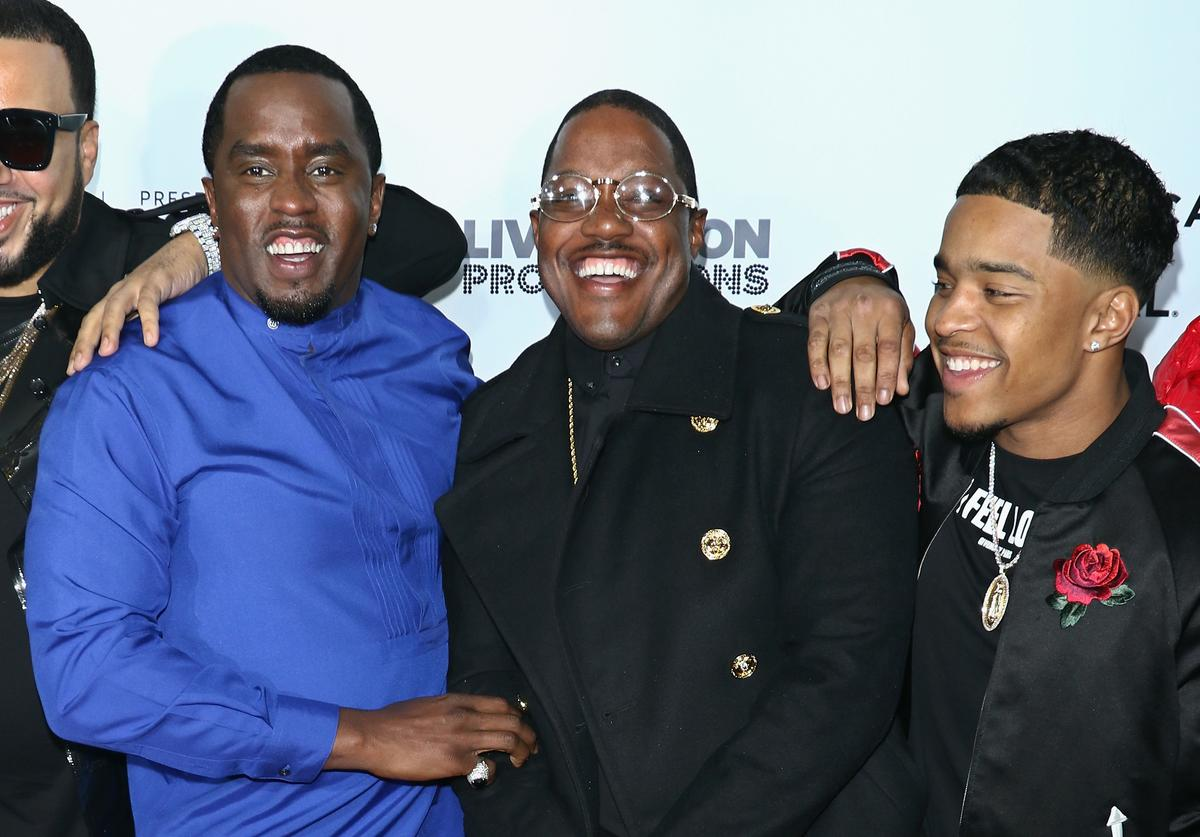 Rapper/actor Sean Combs, Mase and Justin Dior Combs attend the world premiere of 'Can't Stop, Won't Stop: A Bad Boy Story' co-supported by Deleon Tequila during the 2017 Tribeca Film Festiva at Beacon Theatre on April 27, 2017 in New York City