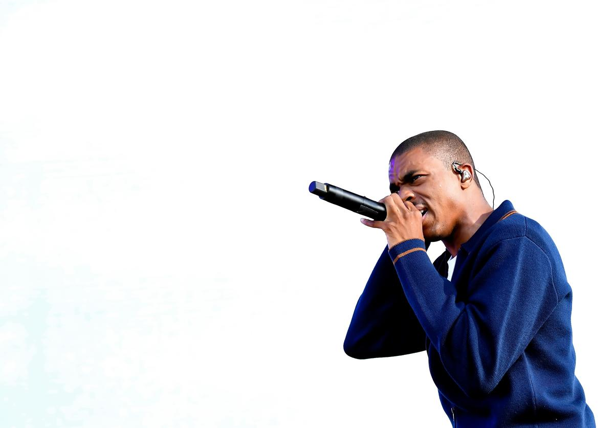 Rapper Vince Staples performs onstage during FYF Fest 2016 at Los Angeles Sports Arena on August 27, 2016 in Los Angeles, California