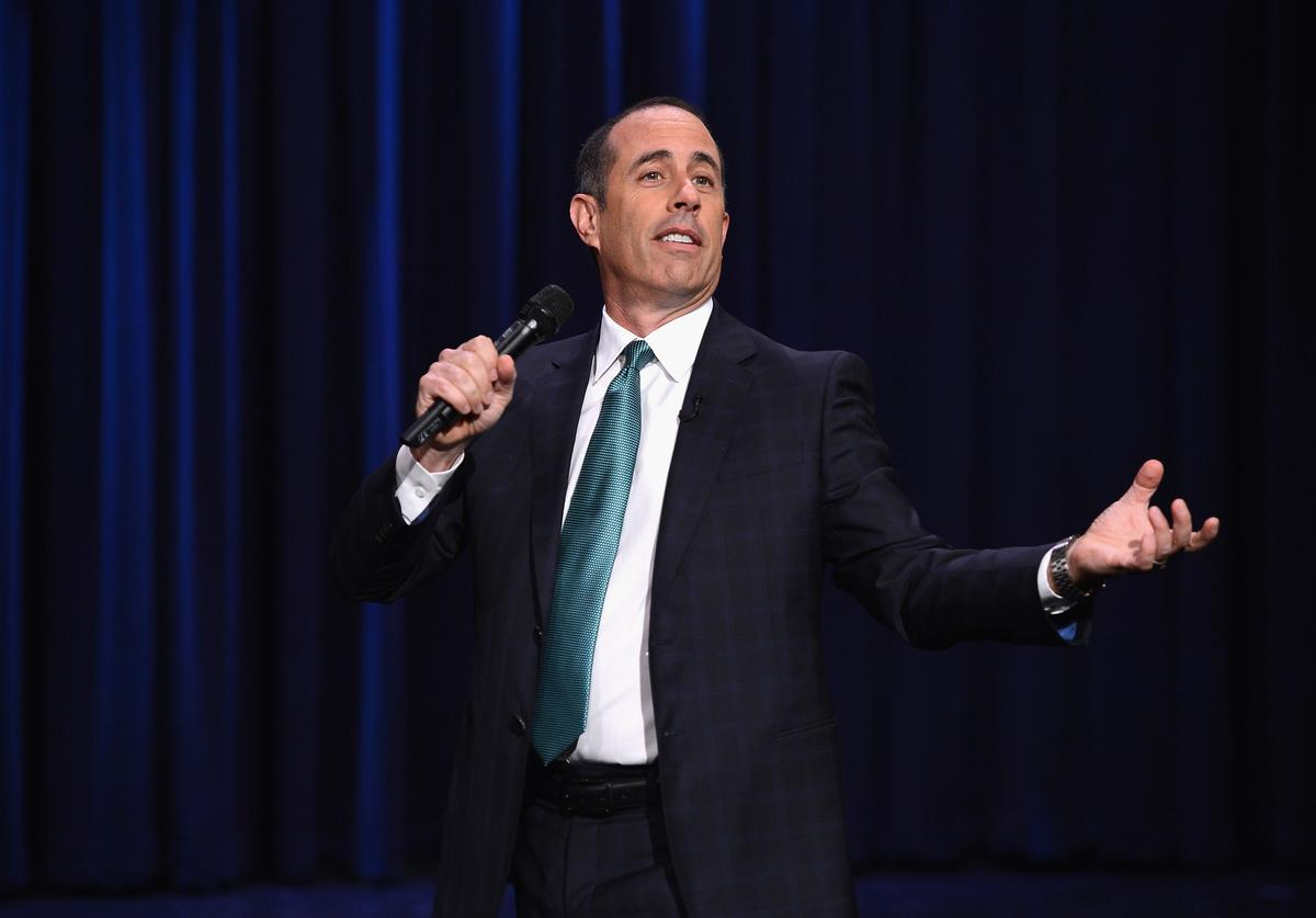 Jerry Seinfeld visits 'The Tonight Show Starring Jimmy Fallon' at Rockefeller Center on February 18, 2014 in New York City