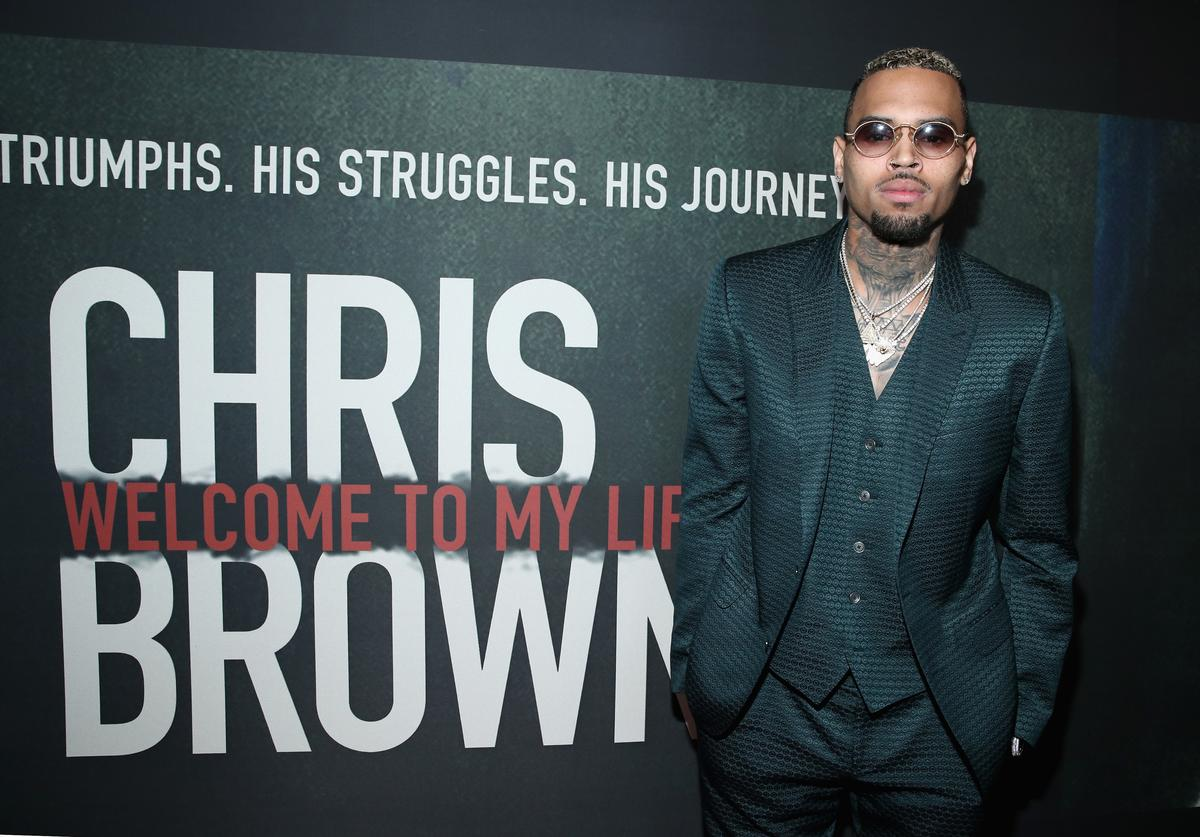 Singer Chris Brown attends the Premiere of Riveting Entertainment's 'Chris Brown: Welcome To My Life' at L.A. LIVE on June 6, 2017 in Los Angeles, California