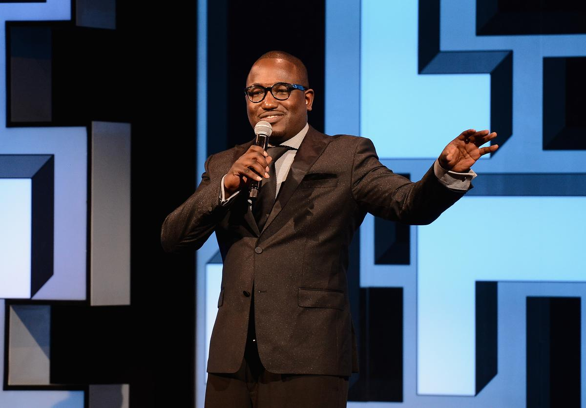 Comedian Hannibal Buress speaks onstage during GREY GOOSE Vodka hosts The 19th Annual Webby Awards on May 18, 2015 in New York City