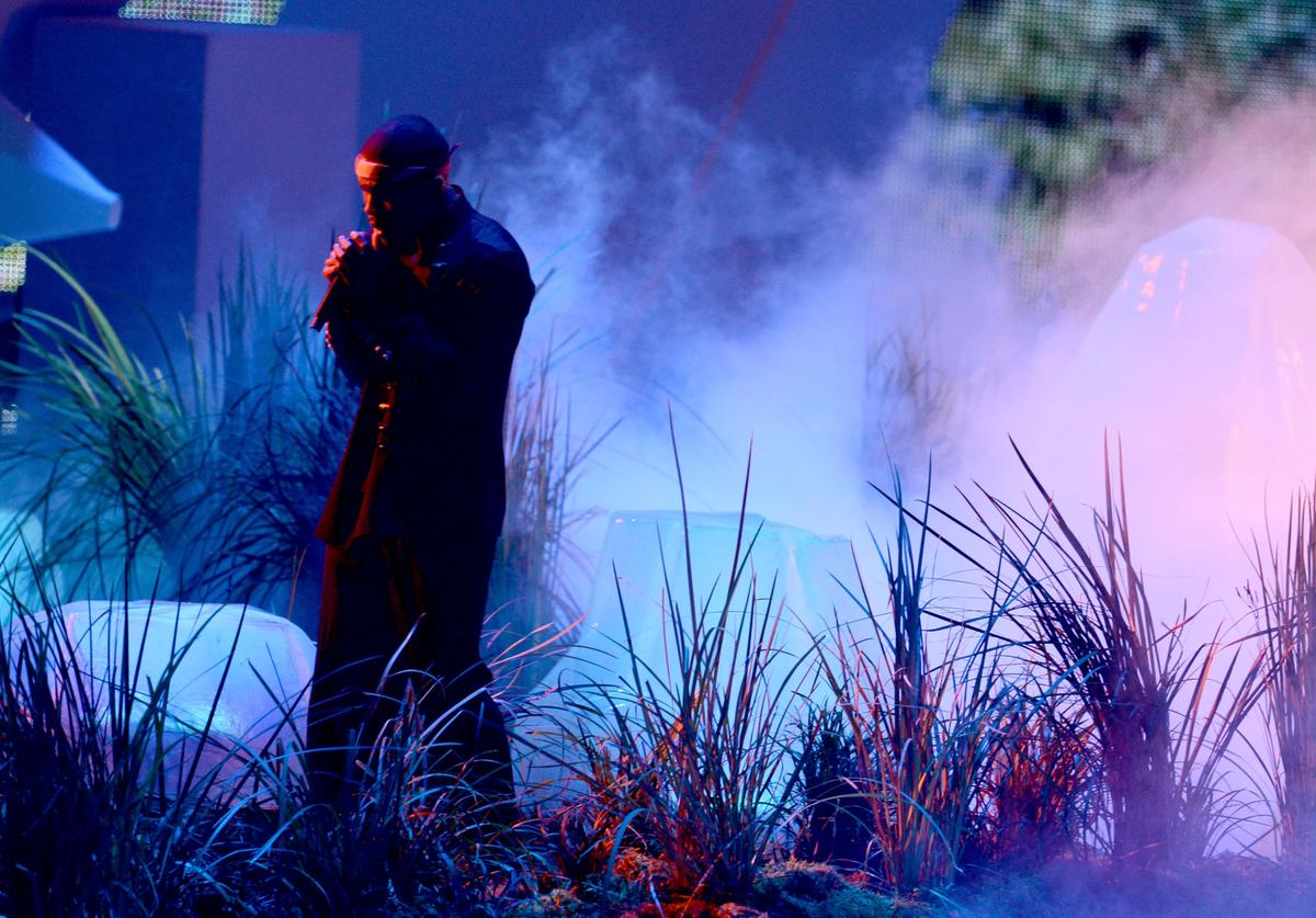 Singer Frank Ocean performs onstage during the 2012 MTV Video Music Awards at Staples Center on September 6, 2012 in Los Angeles, California