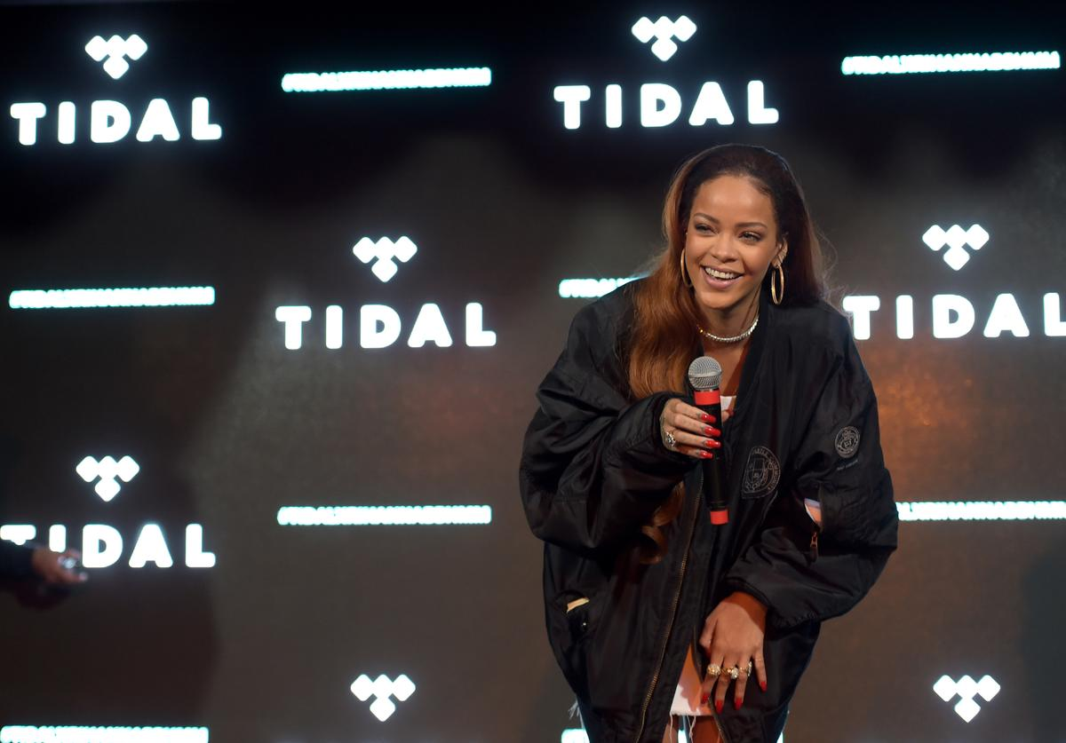 Singer Rihanna surprises fans during the TIDAL X: RIHANNA BBHMM event on July 1, 2015 in Los Angeles, California