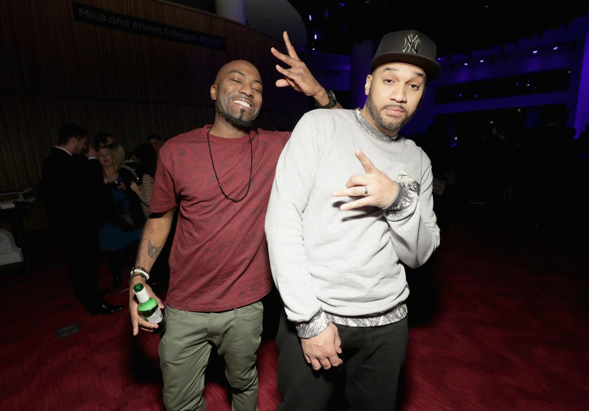 Desus Nice and The Kid Mero attend the 2017 A+E Networks Upfront At Jazz At Lincoln Center's Frederick P. Rose Hall on March 21, 2017 in New York City