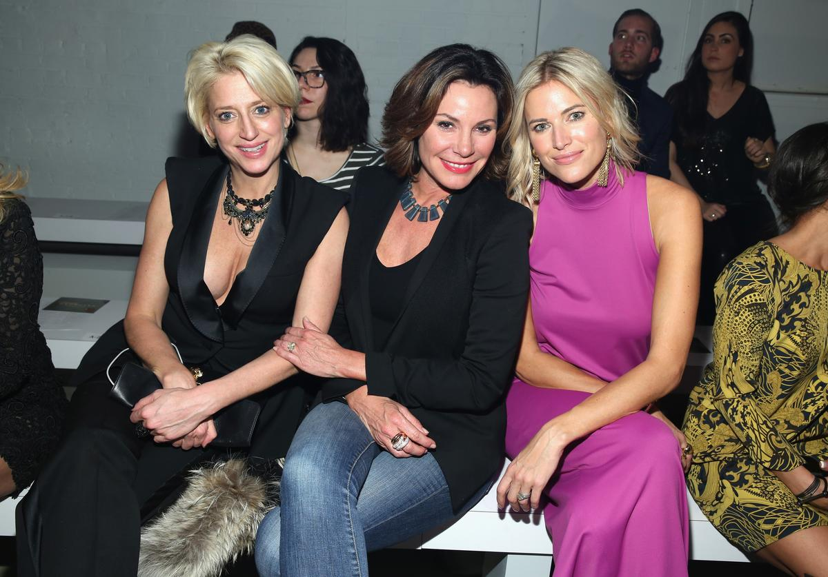 Reality stars Dorinda Medley, Countress Luann de Lesseps and Kristen Taekman attend the Georgine Fall 2016 fashion show during New York Fashion Week: The Shows at The Gallery, Skylight at Clarkson Sq on February 16, 2016 in New York City