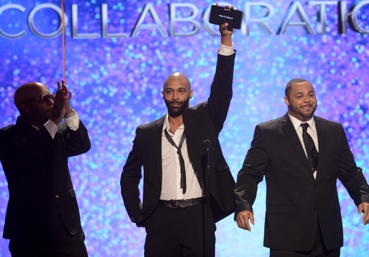 Presenters Slaughterhouse speak onstage during the 2012 BET Awards at The Shrine Auditorium on July 1, 2012 in Los Angeles, California