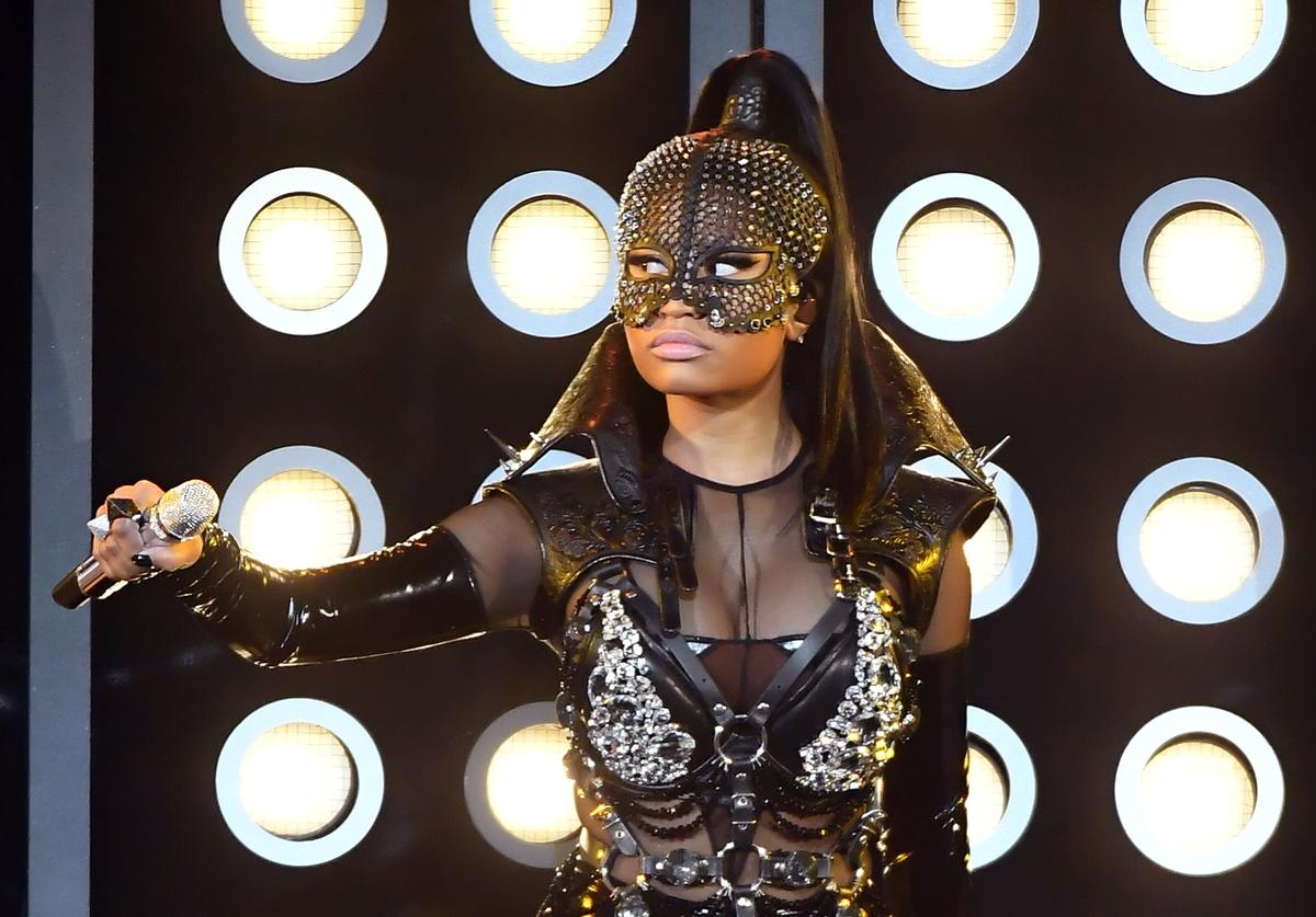 Rapper Nicki Minaj performs onstage during the 2017 Billboard Music Awards at T-Mobile Arena on May 21, 2017 in Las Vegas, Nevada
