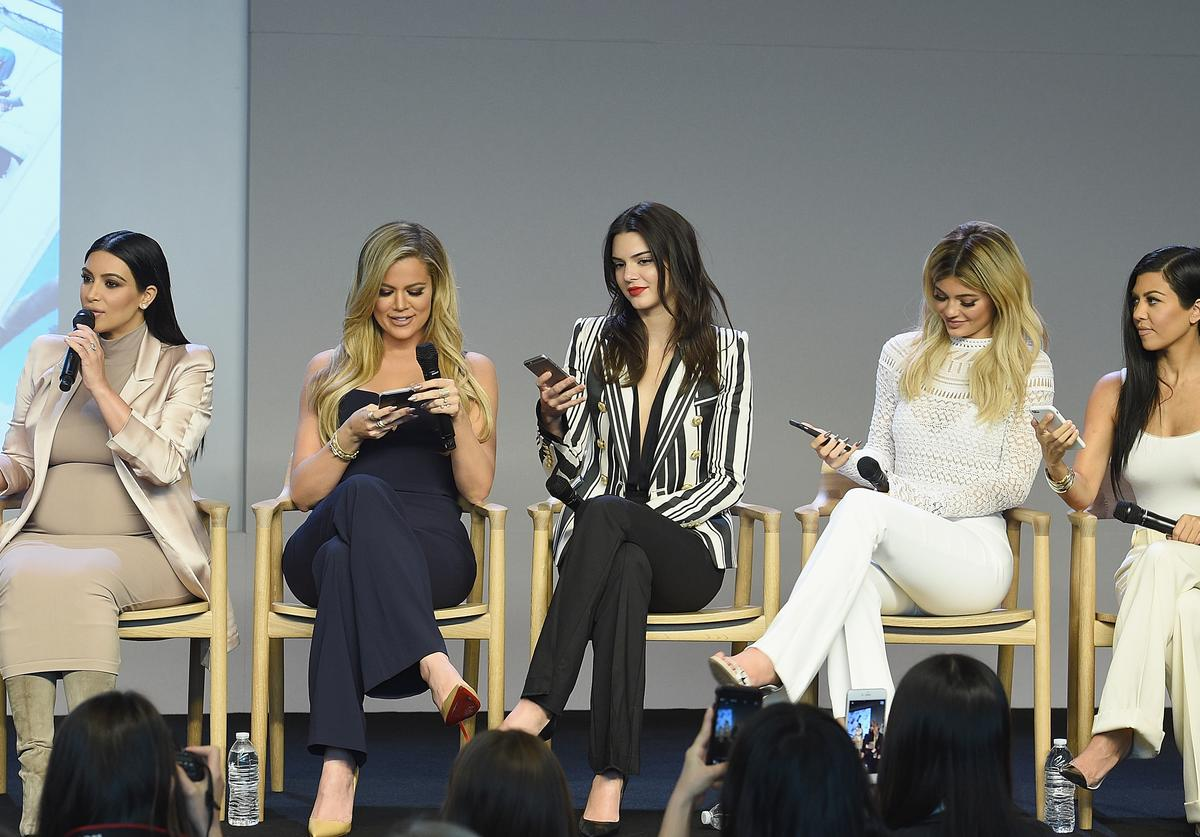 Apple Store Soho Presents Meet The Developers: Kim Kardashian, Khloe Kardashian, Kendall Jenner, Kylie Jenner and Kourtney Kardashianat attends the Apple Store Soho on September 14, 2015 in New York City