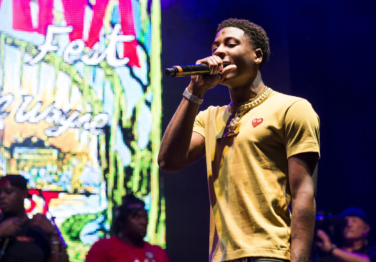 Rapper YoungBoy Never Broke Again performs during Lil Weezyana at Champions Square on August 25, 2017 in New Orleans, Louisiana