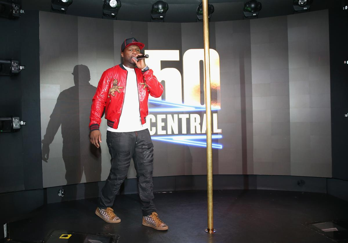 Curtis '50 Cent' Jackson speaks on stage at BET's 50 Central Premiere Party on September 25, 2017 in New York City