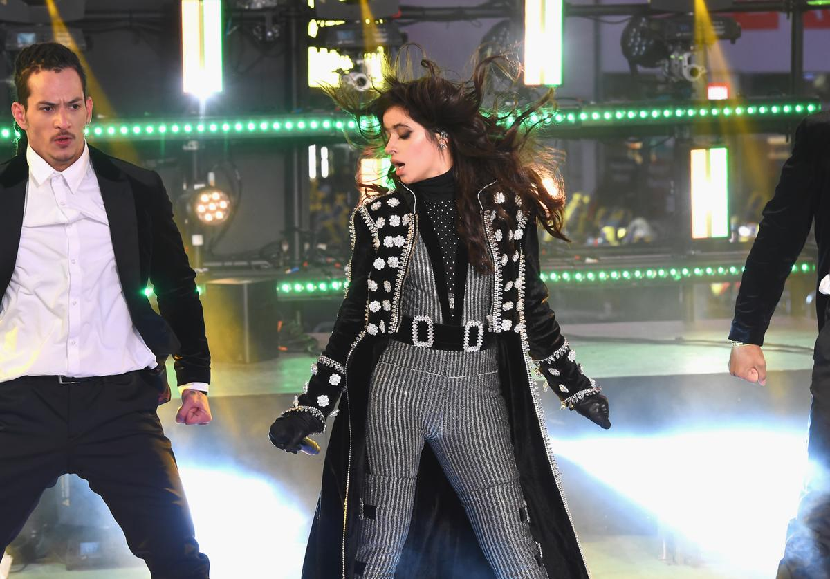 Camila Cabello performs at the Dick Clark's New Year's Rockin' Eve with Ryan Seacrest 2018 on December 31, 2017 in New York City
