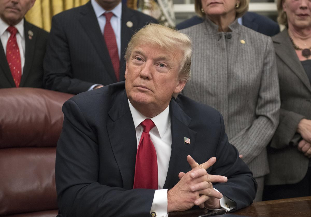 U.S. President Donald Trump makes remarks in the Oval Office prior to signing the bipartisan Interdict Act, a bill to stop the flow of opioids into the United States, on January 10, 2018 in Washington, D.C. The Interdict Act will provide Customs and Border Protection agents with the latest screening technology devices used to secure our border from illicit materials, specifically fentanyl, a powerful opioid